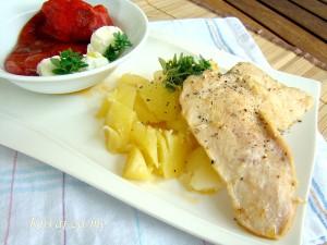 Piletina i drobljeni krompir