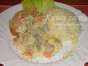 Povrće u parmezan sosu