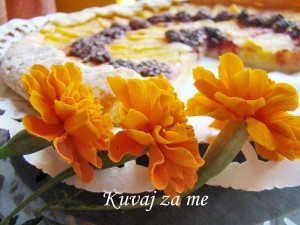 Tart sa breskvama i kupinama