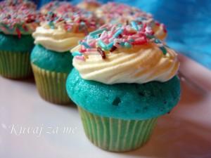 Blue lemon cupcake