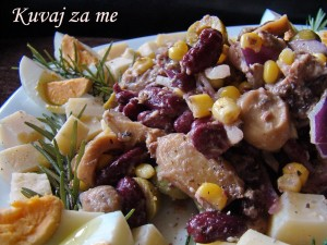 Ljubičasta riblja salata (