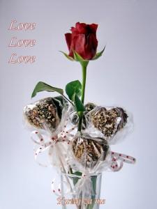 Zaljubljena  srca od čokolade