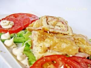 Omlet sa šunkom i šampinjonima