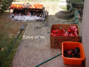 Pečene crvene paprike