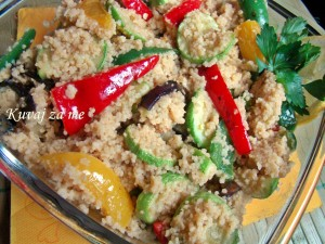 Kus-kus sa grilovanim povrćem