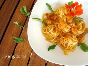 Špagete sa gamborima
