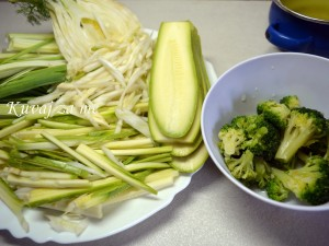 Piletina sa rezancima od povrća