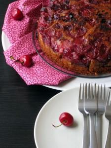 Preokrenuta torta sa tresnjama